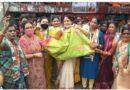 संसदीय सचिव अम्बिका सिंह देव के नेतृत्व में आज महिला कांग्रेस की बहनों ने ,चूड़ी और साड़ी केंद्र सरकार को भेंट की